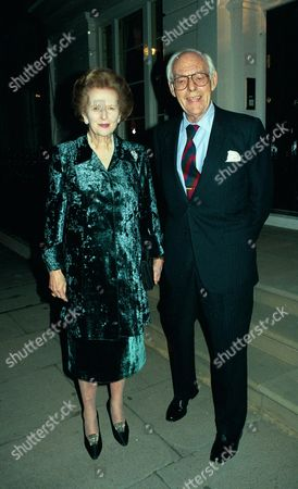 - Andrew & Maderline Lloyd-webber Held A Cocktail Party at Thier New Chester Square House For Disney Head Michael Eisner Pixs Show Baroness & Sir Denis Thatcher