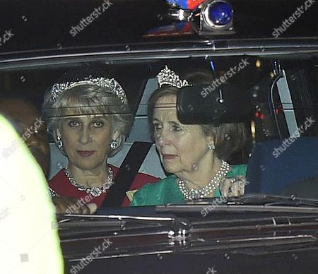 20 10 15 Arrivals For State Banquet at Buckingham Palace Birgitte Duchess of Gloucester