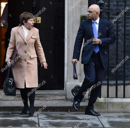 02 02 16 Scenes in Downing Street Following the Cabinet Meeting Baroness Stowell of Beeston Mbe†lord Privy Seal Leader of the House of Lords †and Sajid Javid Mp†secretary of State For Business Innovation and Skills and President of the Board of Trade †††††††