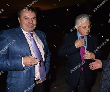 19 10 15 'Call Me Dave' at Arrivals at Altitude 360 Millbank Tower Westminster For Lord Michael Ashcroft's Book Launch Arron Banks and Lord Stevens of Ludgate