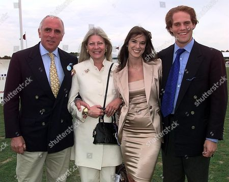Cartier Polo at Smiths Lawn Bryan & Greta Morrison with Their Son Jamie and His Girlfriend Lucy Blair