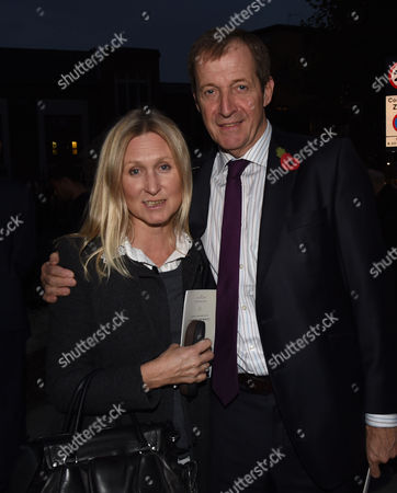 03 11 15 Charles Kennedy London Memorial Service at St George's Cathedral Alastair Campbell & Fiona Millar