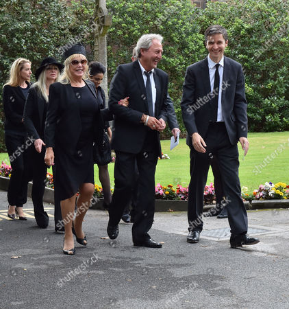 20 08 15 Cilla Black's Funeral at St Mary's Church Woolton Liverpool Scenes After the Service Patti Boyd and Her Husband Rod Weston