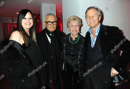 Amanda Eliasch Book Launch Party For Cloak & Dagger Butterfly at Her Home in Beverly Hills Los Angeles California Vidal Sassoon with His Wife Ronnie Sassoon with Michael & Pat York