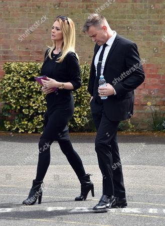 Denise Welch29 04 16 David Gest Funeral at Golders Green Crematorium Darren Day