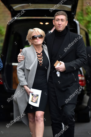 29 04 16 David Gest Funeral at Golders Green Crematorium Danniella Westbrook Looked Distraught As She Left the Service in the Arms of Her Close Friend Christopher Maloney