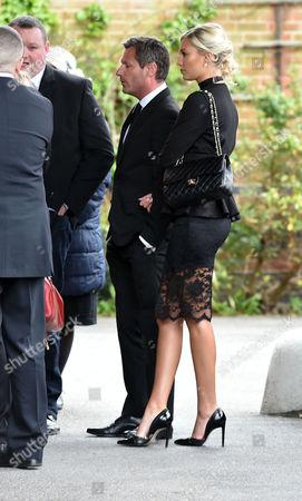 Denise Welch29 04 16 David Gest Funeral at Golders Green Crematorium Dean Gaffney