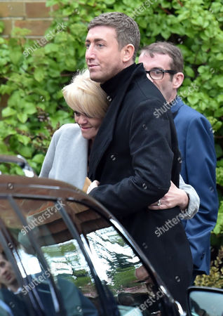 Stock Picture of 29 04 16 David Gest Funeral at Golders Green Crematorium Danniella Westbrook Looked Distraught As She Left the Service in the Arms of Her Close Friend Christopher Maloney