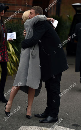 Stock Photo of 29 04 16 David Gest Funeral at Golders Green Crematorium Danniella Westbrook and Christopher Maloney