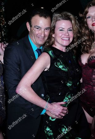 15 12 15 David Morris and Agent Provocateur Cocktail Party at Annabel's Berkeley Square Mayfair Jeremy Morris & His Wife Erin Morris