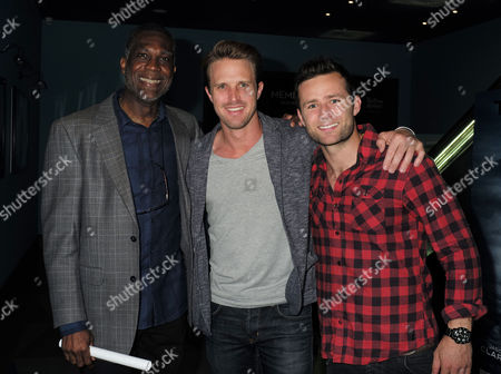 27 07 15 Death of A Gentleman Film Premiere at Picture House Central Shaftesbury Ave Piccadilly London Michael Holding Nick Compton and Harry Judd