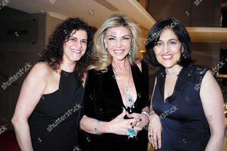23 03 16 Despite the Falling Snow at the Mayfair Hotel Hanan Kattan Lisa Tchenguiz and Shamim Sarif