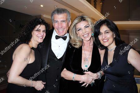23 03 16 Despite the Falling Snow at the Mayfair Hotel Hanan Kattan Steve Varsano Lisa Tchenguiz and Shamim Sarif