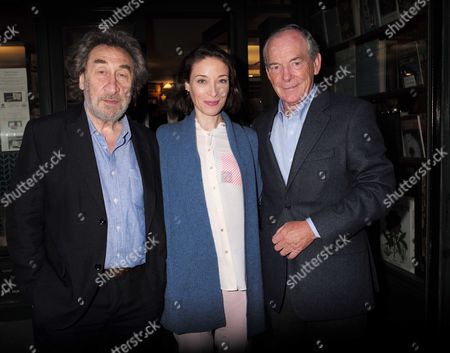 Stock Image of 10 09 15 Elegy: the First Day On the Somme by Andrew Roberts Book Launch at Sotheran's Sackville Street Mayfair London Howard Jacobson with Simon Jenkins and His Wife Hannah Kaye