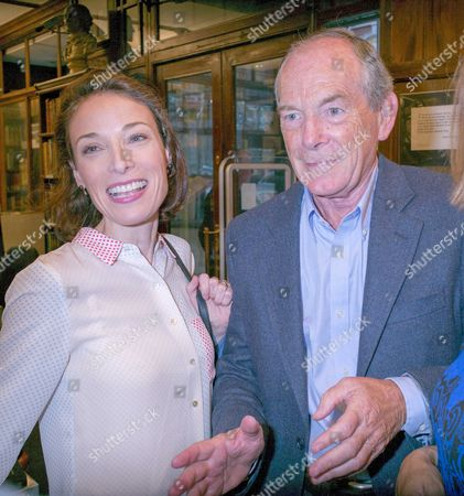 Stock Picture of 10 09 15 Elegy: the First Day On the Somme by Andrew Roberts Book Launch at Sotheran's Sackville Street Mayfair London Simon Jenkins and His Wife Hannah Kaye