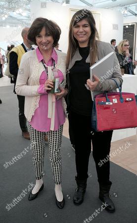 13 10 15 Frieze Art Fair Private View at Regents Park Dorrit Moussaieff and Priya Vandrevela
