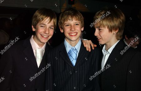 Stock Photo of Gala Opening of 'Billy Elliot' at the Victoria Palace and Party at Pascha the 3 Boys That Play Billy James Lomas George Maguire and Liam Mower