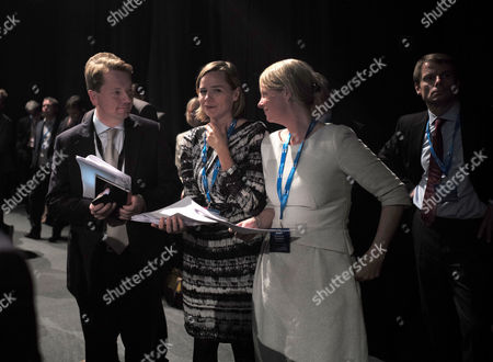 Stock Picture of 05 10 15 Conservative Party Conference George Osborne Speech at Manchester Central James Chapman Sue Beeby & Kate Rock
