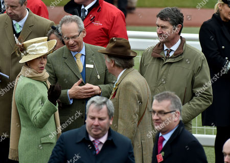 18 03 16 Gold Cup Day at Cheltenham at Cheltenham Race Track Anne the Princess Royal Robert Waley-cohen Andrew Parker-bowles and Her Husband Vice Admiral Sir Tim Laurence