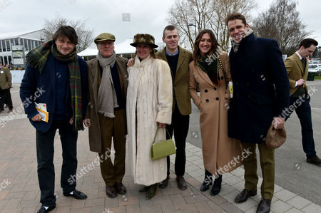 18 03 16 Gold Cup Day at Cheltenham at Cheltenham Race Track Ben Elliott and His Wife and Mary-clare Winwood with Her Brother and Parents Stevie Windwood and His Wife Eugenia Crafton