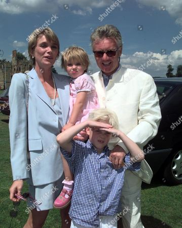 Gold Cup Polo Final at Cowdery Park - Roger Taylor with Debbie Leng and their children Tigerlily and Rufus Tiger Taylor