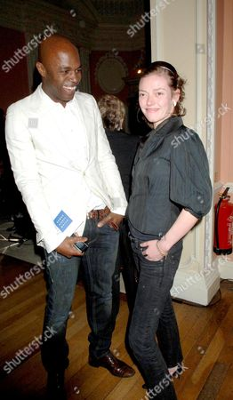 Human Rights Watch 10th International Film Festival with A Gala Screening of Land of the Blind After Party at the English Speaking Union Dartmouth House Mayfair Chris Obi and Camilla Rutherford