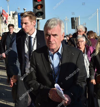 27 09 15 Labour Party Conference at Brighton Conference Center John Mcdonnell Mp Shadow Chancellor & Seb Corbyn