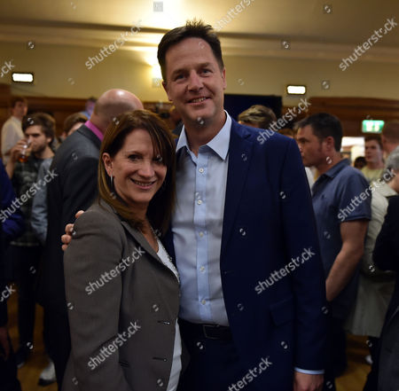 16 07 15 the Winner of the Liberal Democrat Leadership Contest at Islington Assembly Hall Lynne Featherstone with Nick Clegg Mp