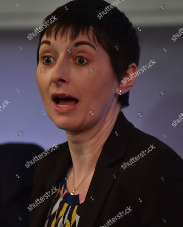 03 02 16 London Mayoral Election Debate at the the Royal Geographical Society Caroline Pidgeon