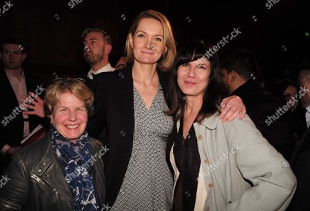03 02 16 London Mayoral Election Debate at the the Royal Geographical Society Sophie Walker with Sandi Toksvig with Catherine Mayer