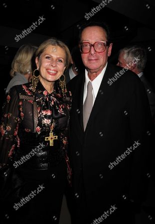 02 11 15 Launch Party For Charles Moore's New Book ' Margaret Thatcher the Authorised Biography Volume Two: ' at M&c Saatchi Golden Square Soho Lady Aliai Forte and Lord Maurice Saatchi