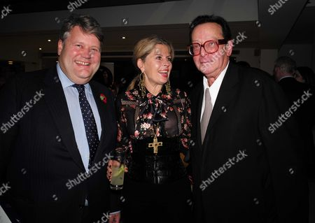 02 11 15 Launch Party For Charles Moore's New Book ' Margaret Thatcher the Authorised Biography Volume Two: ' at M&c Saatchi Golden Square Soho Lord Tom Strathclyde Lady Aliai Forte and Lord Maurice Saatchi