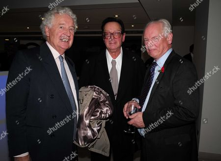 Stock Image of 02 11 15 Launch Party For Charles Moore's New Book ' Margaret Thatcher the Authorised Biography Volume Two: ' at M&c Saatchi Golden Square Soho Lord Maurice Saatchi & Francis Maude Mp