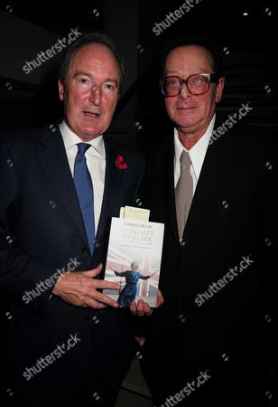 02 11 15 Launch Party For Charles Moore's New Book ' Margaret Thatcher the Authorised Biography Volume Two: ' at M&c Saatchi Golden Square Soho the Author Charles Moore with Lord Maurice Saatchi