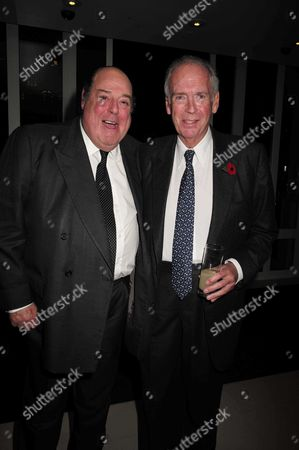 Stock Image of 02 11 15 Launch Party For Charles Moore's New Book ' Margaret Thatcher the Authorised Biography Volume Two: ' at M&c Saatchi Golden Square Soho Sir Nicholas Soames & Lord Hesketh
