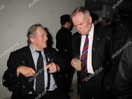 02 11 15 Launch Party For Charles Moore's New Book ' Margaret Thatcher the Authorised Biography Volume Two: ' at M&c Saatchi Golden Square Soho Peter Jay and Lord Jeffery Archer