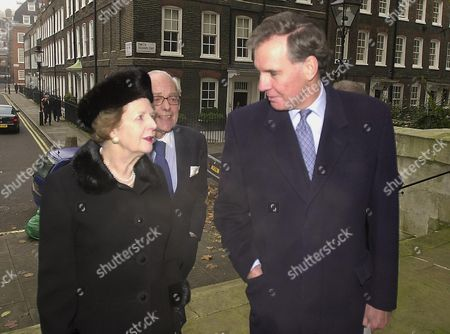 Memorial Service For John Aspinall at St Johns Smith Square Jonathan Aitken and Baroness Margaret Thatcher