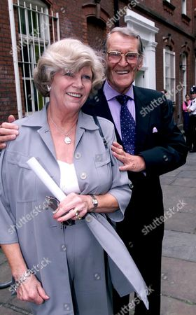 Memorial Service For Michael Williams at St Pauls Church Covent Garden Patrick Allen with His Wife