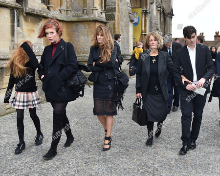 05 02 16 Memorial Service For Miles Frost at Arundel Cathedral Kate Rothschild Jemima Goldsmith Lady Annabel Goldsmith