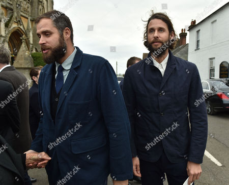 05 02 16 Memorial Service For Miles Frost at Arundel Cathedral Anthony & David De Rothschild