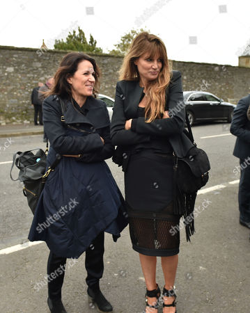 05 02 16 Memorial Service For Miles Frost at Arundel Cathedral Lise Mayer & Jemima Goldsmith