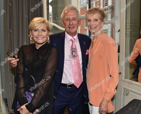 Stock Photo of 16 07 15 Launch of Robert Lacey's New Book Model Woman: Eileen Ford and the Business of Beauty at the Savile Club Brook Street Mayfair London Fiona Fullerton Robert Lacey & Paulene Stone