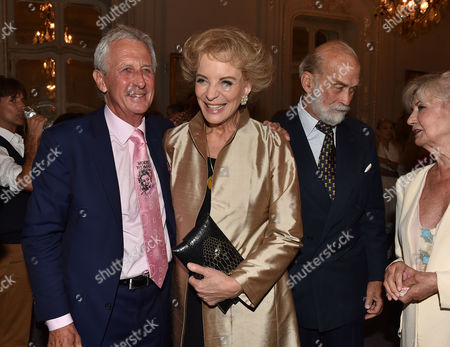 16 07 15 Launch of Robert Lacey's New Book Model Woman: Eileen Ford and the Business of Beauty at the Savile Club Brook Street Mayfair London Robert Lacey Princess Michael of Kent Prince Michael of Kent & Lady Jane Rayne Lacey