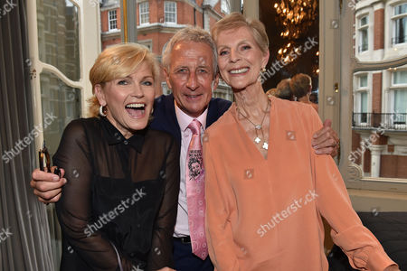 16 07 15 Launch of Robert Lacey's New Book Model Woman: Eileen Ford and the Business of Beauty at the Savile Club Brook Street Mayfair London Fiona Fullerton Robert Lacey & Paulene Stone