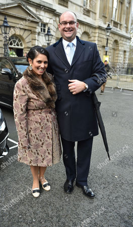 05 03 16 Murdoch Wedding Breakfast at Spencer House St James London the Rt Hon Priti Patel Mp and Her Husband Alex Sawyer