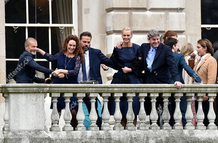 05 03 16 Murdoch Wedding Breakfast at Spencer House St James London Lachlan & Sarah Murdoch with Rebekah and Charlie Brooks with Vivi Nevo (l)