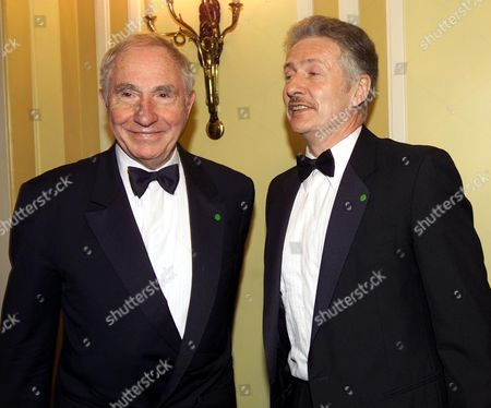 Stock Photo of Nigel Hawthorne with His Partner Trevor at the Alfs(film Awards) 2000 at the Dorchester Hotel