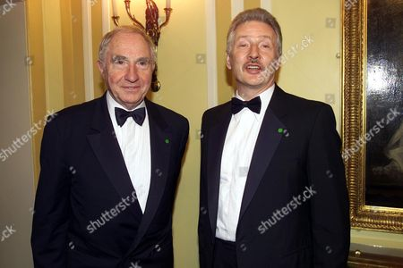 Nigel Hawthorne with His Partner Trevor at the Alfs(film Awards) 2000 at the Dorchester Hotel