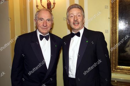 Stock Picture of Nigel Hawthorne with His Partner Trevor at the Alfs(film Awards) 2000 at the Dorchester Hotel
