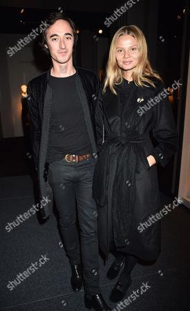 12 10 15 Pad London at Berkeley Square Private View Daniele Cavalli and Magdalena Frackowiak